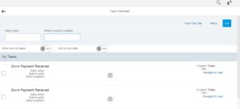 Task Overview scherm